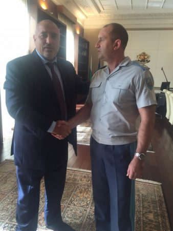 Boiko Borissov and Roumen Radev, October 2015.