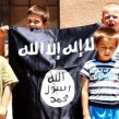 Bosnian children appear with an Islamic State flag in an IS video