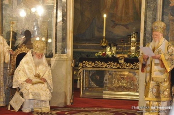 neofit and ecumenical patriarch bartholomew