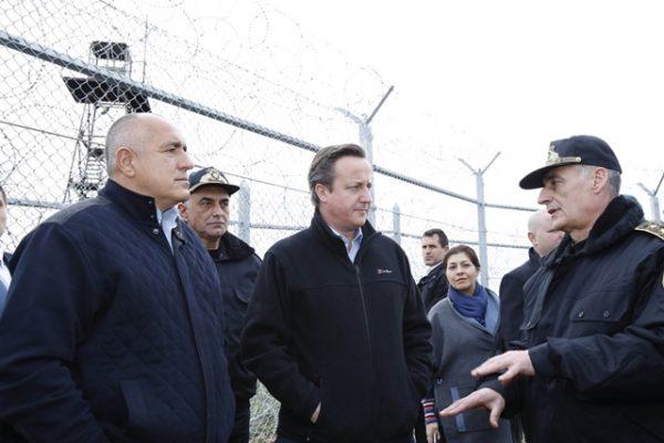 Boiko Borissov David Cameron and some oke in a uniform