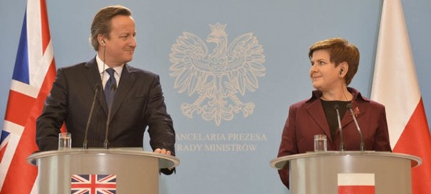 David Cameron arrives in Warsaw and is met by Prime Minister Szydlo as part of a two day visit to Romania and Poland, as he continues discussions on EU reform. During his trip to Europe he meets with the Presidents and Prime Ministers of both countries.