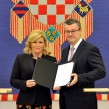 president of croatia Kolinda Grabar-Kitarovic and prime minister of croatia Tihomir Oreskovic