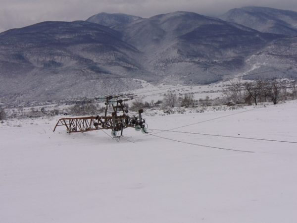 EVN power pylon downed by snow Bulgaria photo EVN