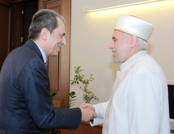Plamen Oresharski and Chief Mufti Mustafa Hadzhi at the time of the 2013/24 BSP-MRF ruling axis. Photo: government.bg