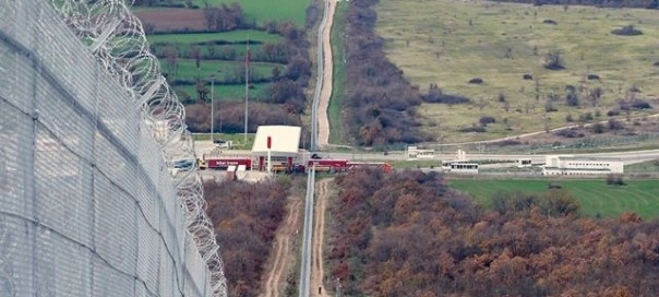 fence at bulgarian turkish border-crop