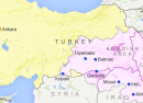 map of turkey showing major kurdish areas voa