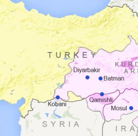 map of turkey showing major kurdish areas voa