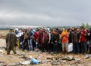 migrants and refugees at the Greece Macedonian border Idomeni Greece photo Francesco Malavolta