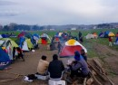 Sunset approaches on the Greek-Macedonian border Friday and refugees phmostly Syrian and Iraqis prepare for another night waiting to see if the border will be reopened photo Jamie Dettmer VOA