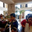 Syrian children at the Mediterranean Palace Hotel enjoying their respite from the hunger cold and misery of the refugee trail Thessaloniki northern Greece March 6 2016 photo Jamie Dettmer VOA