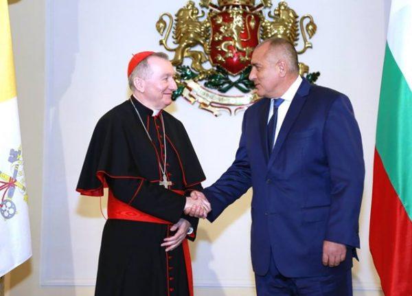 Vatican Secretary of State Pietro Parolin and Bulgarian Prime Minister Boiko Borissov