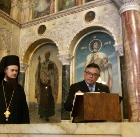 Archmandrite Dionisii and Taiwanese ambassador