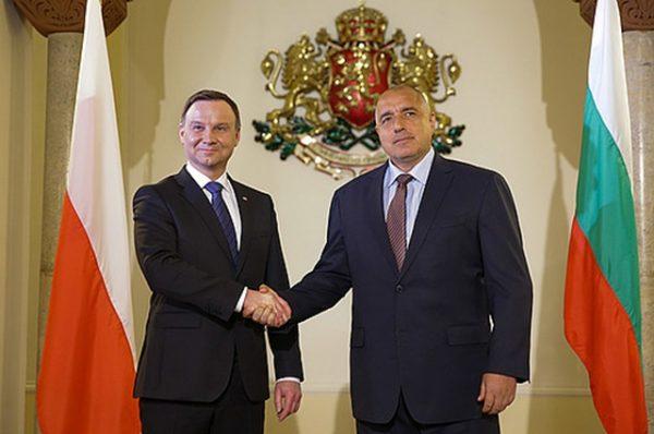 Polish president Duda and Bulgarian prime minister Boiko Borissov, who held talks in Sofia on April 18 during Duda's visit.
