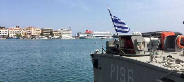 Greece will begin deporting migrants back to Turkey on Monday from Mytilini's port photo Luis Ramirez VOA
