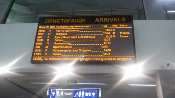 Sofia Central Railway Station weird English 2 photo copyright Clive Leviev-Sawyer