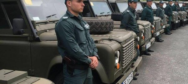 Bulgarian Border Police 4x4 vehicles donated by UK