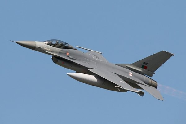 A Lockheed F16, Portuguese Air Force.