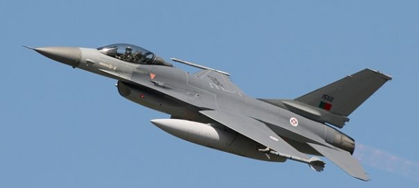 A Lockheed F16, Portuguese Air Force.
