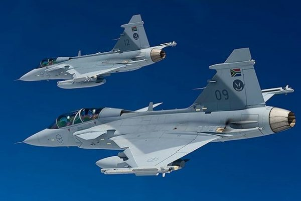 Gripens, in service with the South African Air Force.