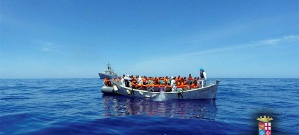 a rescue operation by Italian navy ship Grecale unseen off the coast of Sicily photo Marina Militare