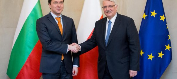 Daniel Mitov and Polish foreign minister Waszczykowski