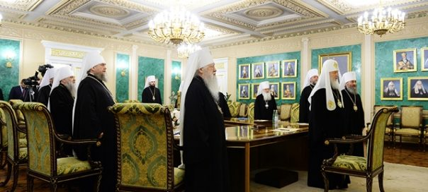 Russian Patriarch Kirill and the Holy Synod of the Russian Orthodox Church