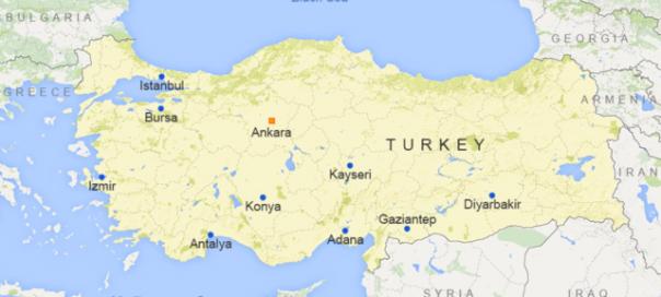 Turkey map VOA