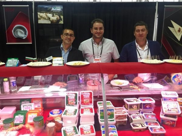 Kristian Nikolov, on left, and Velizar Velizarov, centre, of the National Association Of Milk Processors, say that Bulgaria's sheep's and goat's milk cheeses are drawing the most interest.