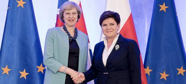 UK prime minister Theresa May and Polish Prime Minister Beata Szydlo