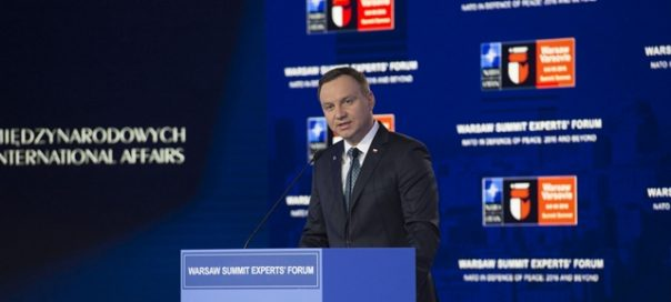 President of Poland Andrzej Duda at the Warsaw Summit Experts' Forum