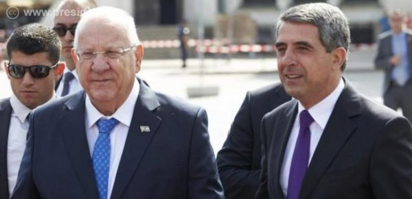 The State of Israel's President Reuven Rivlin with his Bulgarian counterpart and host in Sofia on July 7 2016, Rossen Plevneliev. Photo: president.bg