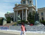 serbian parliament building belgrade photo L Ramirez VOA