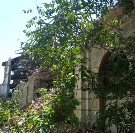 The former tobacco warehouse at 8 Odrin Street, Plovdiv, photographed on August 22 2016, more than five months after an attempt to demolish it. Photo: (c) Clive Leviev-Sawyer
