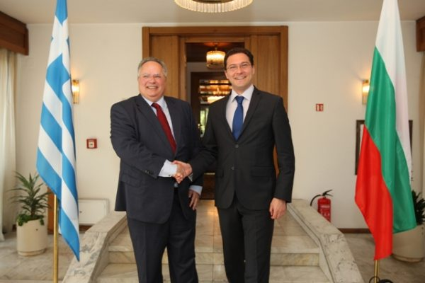 Daniel Mitov and foreign minister of Greece