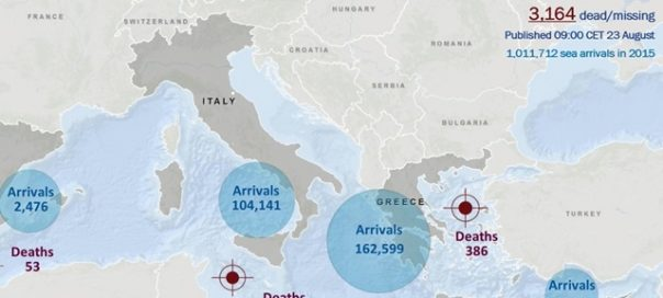 iom migrant and refugee arrivals Europe August 21 2016-crop