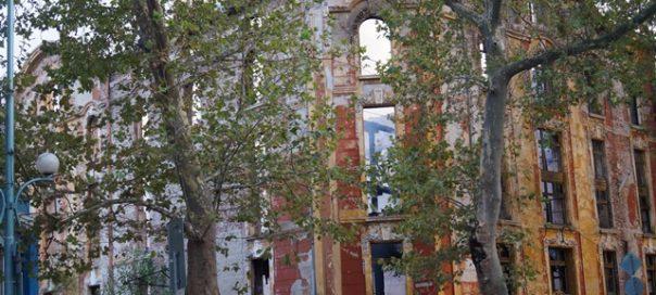 plovdiv tobacco town warehouses burnt photo podtepeto