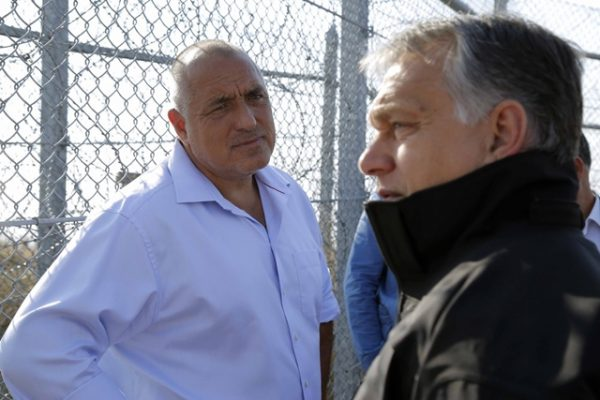 Bulgarian Prime Minister Boiko Borissov and his Hungarian counterpart Viktor Orban during a tour of Bulgaria's borders on September 14. Photo: government.bg