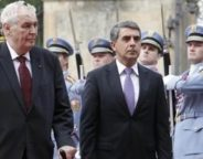 Czech president Milos Zeman and Bulgarian president Rossen Plevneliev-crop