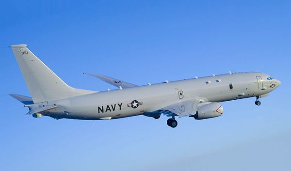 US Navy P-8A Poseidon aircraft. Photo: Greg L Davis