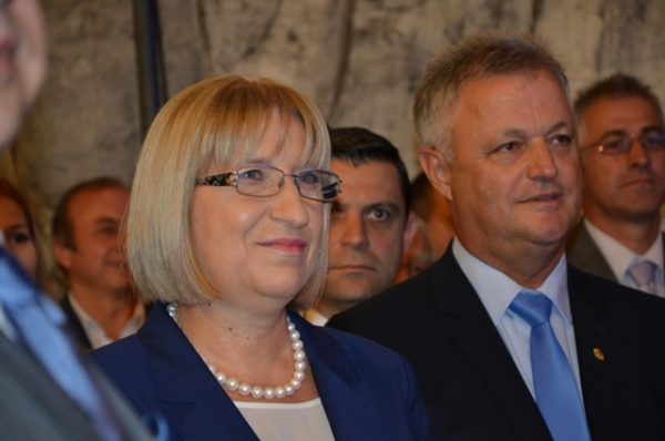 Tsetska Tsacheva and GERB vice-presidential candidate Plamen Manushev.
