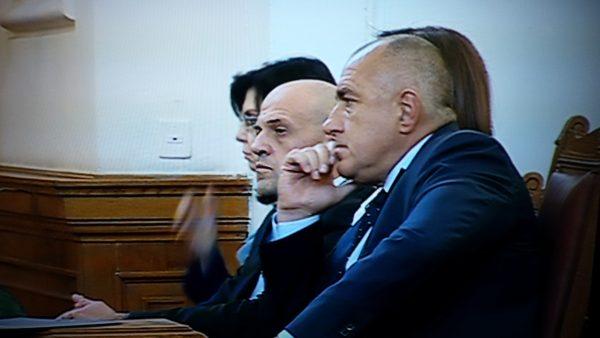Borissov with deputy prime ministers Tomislav Donchev (GERB) and Meglena Kouneva (Reformist Bloc)