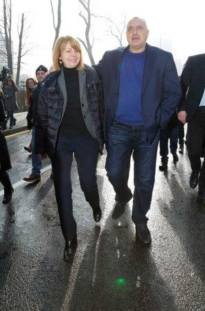 Sofia mayor Yordanka Fandukova and outgoing Bulgarian prime minister Boiko Borissov, November 26. Photo via Borissov's Facebook page.