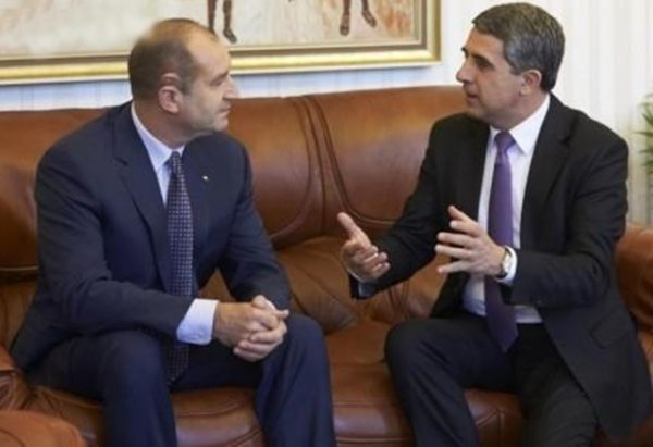 Roumen Radev, winner of Bulgaria's November 2016 presidential elections, and President Rossen Plevneliev in talks on November 14. Photo: president.bg