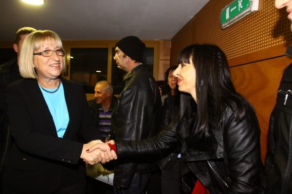 GERB presidential candidate Tsetska Tsacheva.