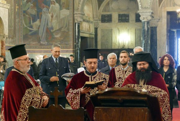 A November 20 2016 church service in Sofia to mark the World Day of Remembrance of Traffic Victims. Photo: Interior Ministry