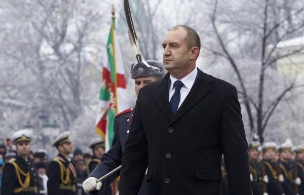 Bulgarian President Roumen Radev, formerly the general commanding the air force, at his January 22 2017 inauguration as head of state. Photo; president.bg