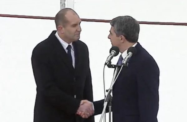 At Radev's inauguration ceremony on January 22, outgoing President Rossen Plevneliev said that he sincerely wished his successor luck.