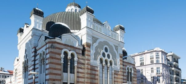 Central Synagogue in Bulgaria's capital Sofia celebrating
