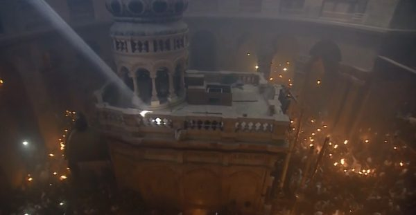 Holy Fire descends in Jerusalem